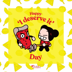 🍔 Today is #NoDietDay, so if you needed an excuse for today, Pucca gives it to you 🤣 Indulge yourself! What is the strongest temptation you can't resist? 🍕 #food #cheatmeal #diet #Pucca