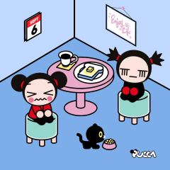 😩 When it's Monday, you are back from holidays and you cannot keep your eyes open… 😴 Have you felt this way too? 🥱  #monday #backtoroutine #afterholidays #summerisending #september #sos #pucca #garu #love