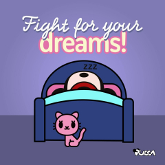 😴 Is today #WorldSleepDay? This calls for a nap! Let's celebrate this special day as it deserves! 🛌  What is your biggest dream in life? 💭   #pucca #sleep #dreams #naptime