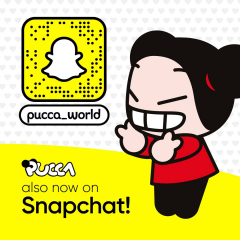 💛 Surprise! 💛  #Pucca is also now on #Snapchat! 🥳  Scan the Snapcode in the image to follow her! Don't miss out all updates and show your love for Pucca! 🌟